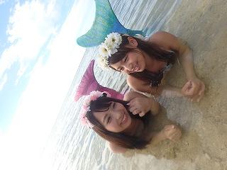 沖縄マーメイド体験 撮影風景