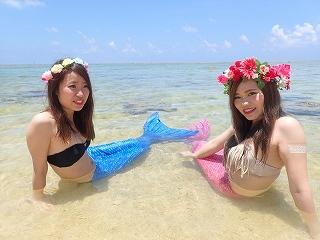 マーメイド体験 プライベートビーチです