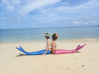マーメイド体験 きれいなビーチで