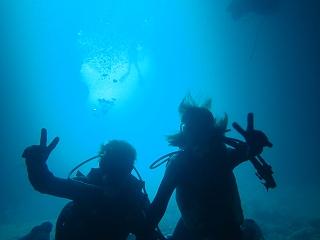 青の洞窟ダイビング 水中で!