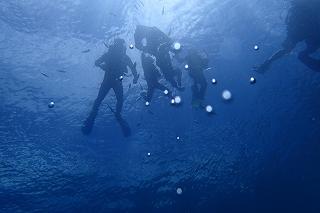 青の洞窟シュノーケリング 水中から