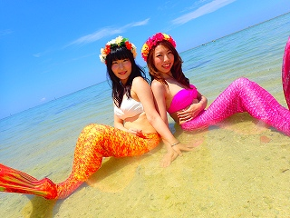 沖縄本島でマーメイド体験
