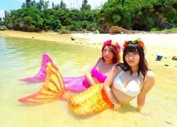 沖縄本島でマーメイド体験と青の洞窟ダイビング