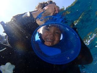 4歳青の洞窟シュノーケリング
