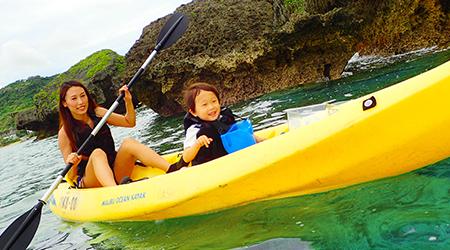 沖縄でシーカヤック1歳の子供と一緒に楽しめちゃう