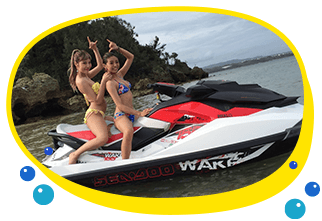 ジェットスキー、バナナボート、マーブル、シーカヤックが沖縄で楽しめるプランです