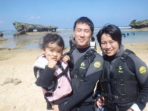沖縄シュノーケリング2歳の子と海遊び