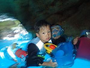 6歳親子とシュノーケリング青の洞窟