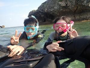 沖縄ビーチシュノーケリング