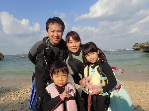 子連れ家族とシュノーケリング 沖縄