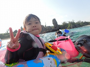 子供連れ家族と沖縄シュノーケリングで思いで作り