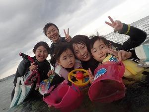2歳と5歳の子連れ家族とシュノーケリング沖縄