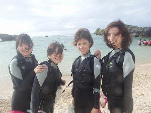 沖縄シュノーケリング女子旅