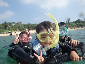 沖縄子供遊びシュノーケリング4歳