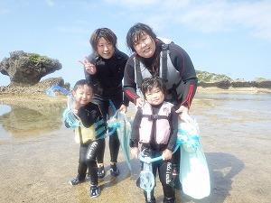 沖縄子供と遊べるシュノーケリング