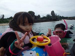 2歳の子供とシュノーケリング
