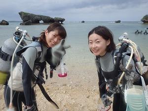 女子旅ダイビング