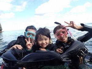 沖縄4歳の子連れ家族とシュノーケリング