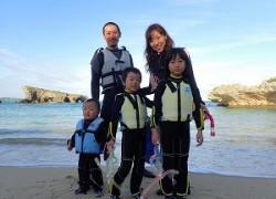 沖縄子連れシュノーケリング2歳5歳7歳の子供と海遊び体験