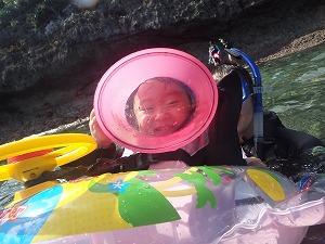 沖縄幼児シュノーケリング