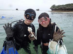 カップルで沖縄ダイビング