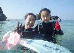 ダイビング 8歳 沖縄