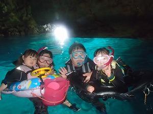 青の洞窟でシュノーケリング写真