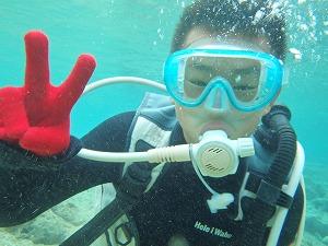 沖縄子供ダイビング