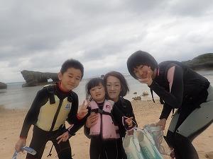 沖縄子連れ遊び体験ならシュノーケリング
