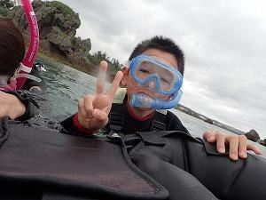 沖縄子供も安心シュノーケリング