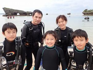 沖縄8歳、9歳の子供キッズダイビング