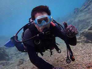 沖縄ダイビングお父さん