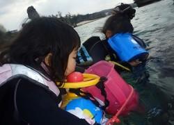 シュノーケリング子供と一緒に沖縄で海デビュー