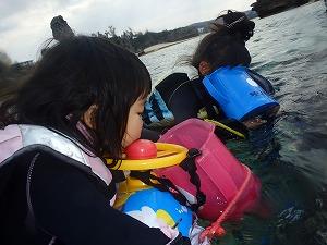 2歳4歳の子供とシュノーケリング沖縄
