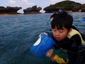 4歳の子供とシュノーケリング沖縄