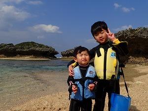 2歳4歳の子供でもできるシュノーケリング沖縄