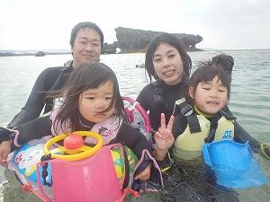 2歳4歳の子連れ家族とシュノーケリング楽しんできました