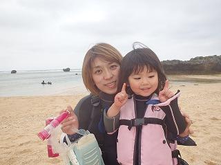 3歳の子供とシュノーケリング
