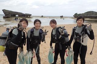 沖縄女子旅 体験ダイビング