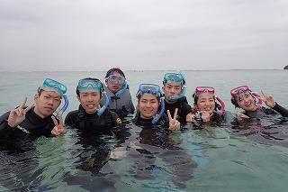 沖縄学生旅行シュノーケリング