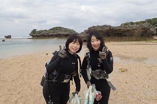 沖縄旅行女子旅おすすめ 貸切体験ダイビング