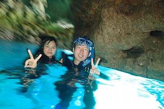 青の洞窟シュノーケリング水面写真