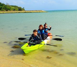 沖縄ダイビングショップシーフリー カヤック