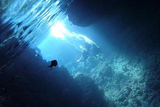 青の洞窟シュノーケル水中