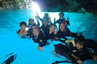 青の洞窟シュノーケル水中写真思い出