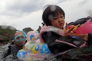 2歳の子供とシュノーケリング沖縄
