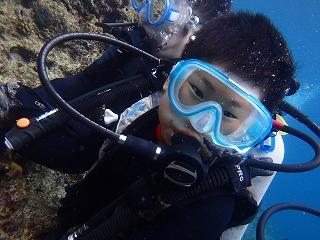 沖縄体験ダイビング子供8歳