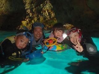 青の洞窟シュノーケリング2歳もOK