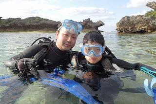 沖縄ダイビング8歳ダイビング終了