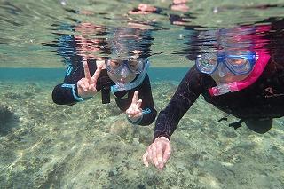 沖縄水中写真シュノーケリング